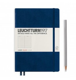 Leuchtturm A5 Medium Notebook Ruled Navy