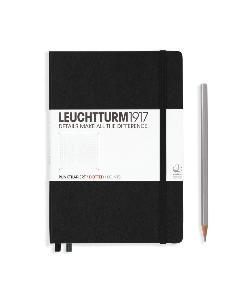 Leuchtturm A5 Medium Notebook Dot Black