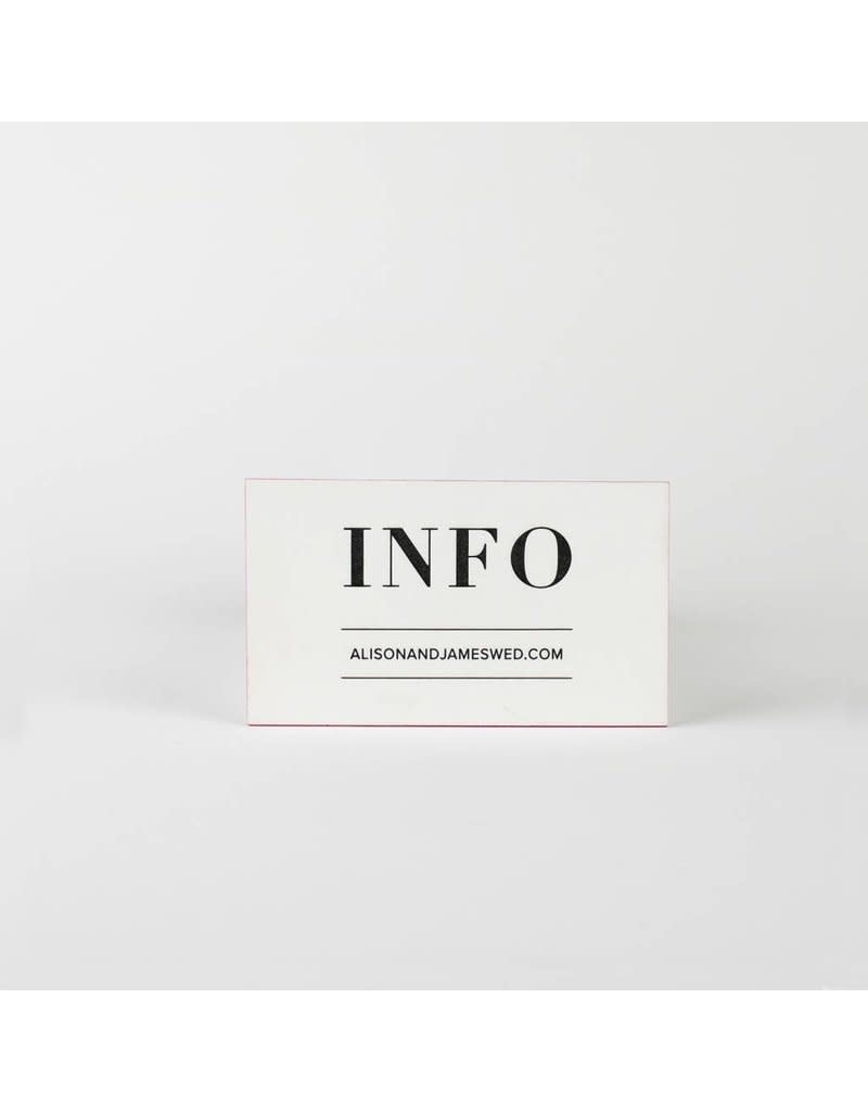 Alison Information Card