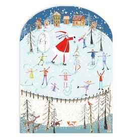 Skating Santa Advent Calendar