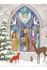 Stained Glass Manger Advent Calendar