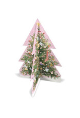 3-D Pink Tree Advent Calendar