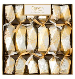 Gold Block Print Stars Holiday Crackers