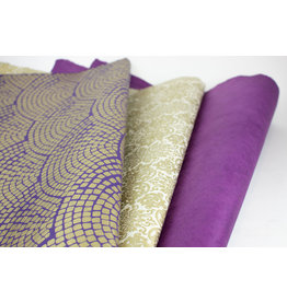 Purple and Gold Flat Wrap Trio