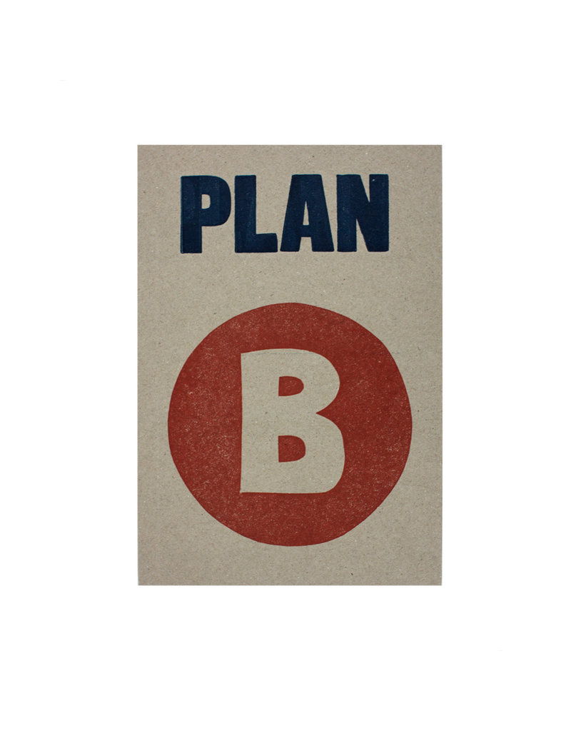 Sukie Letterpress Plan B Notebook