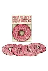 HWG Pink Glazed Sprinkle Doughnut Coasters