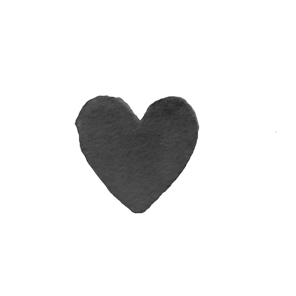 Oblation Papers & Press Handmade Paper Petite Heart Charcoal