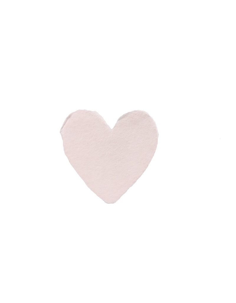 Oblation Papers & Press Handmade Petite Heart Blush