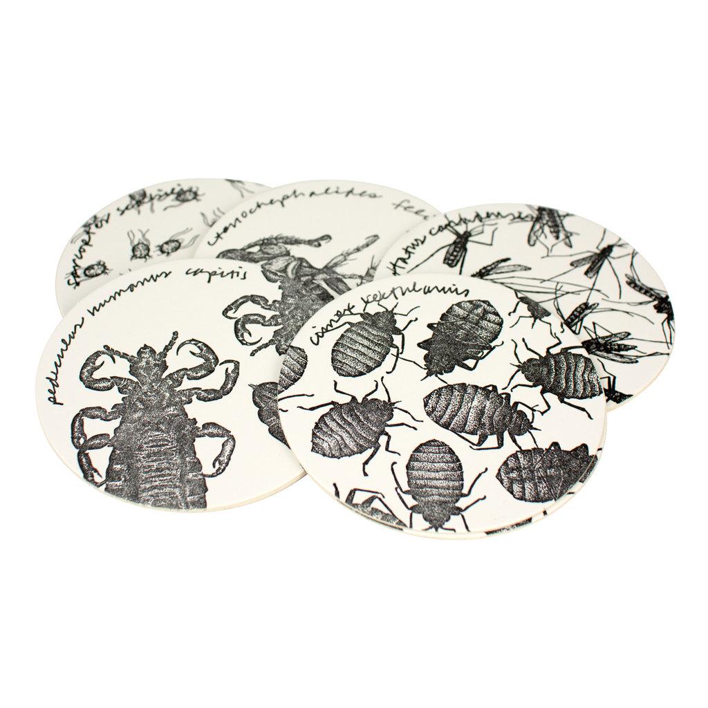 Hat + Wig + Glove Parasite Coasters