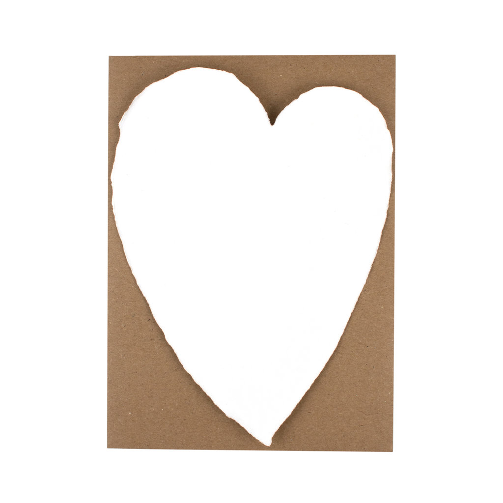 Oblation Papers & Press Handmade Paper Large White Heart