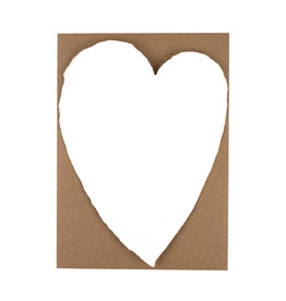 Oblation Papers & Press Handmade Paper Large Heart White