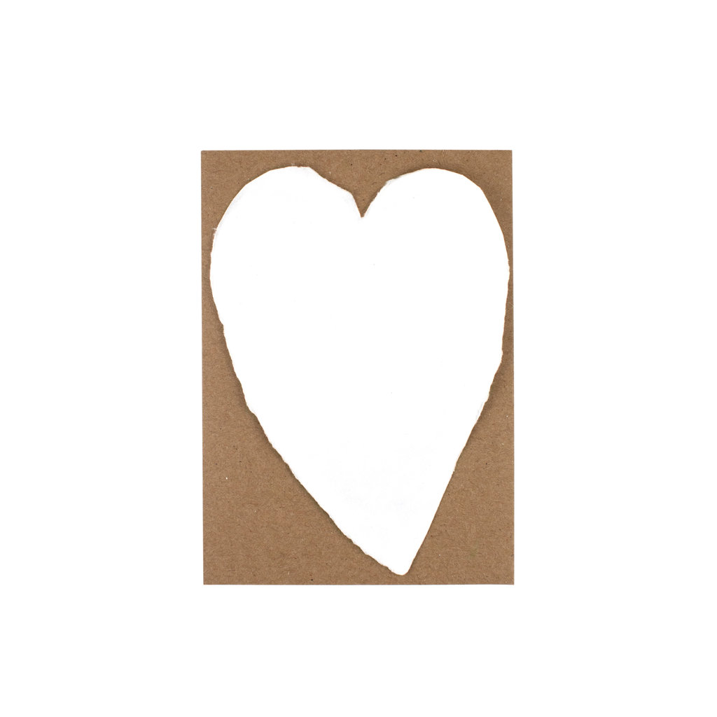 Oblation Papers & Press Handmade Paper Small Heart White