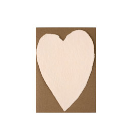 Oblation Papers & Press Handmade Paper Small Heart Blush
