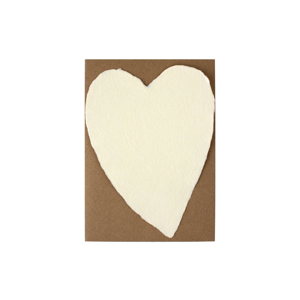 Oblation Papers & Press Handmade Paper Small Heart Cream