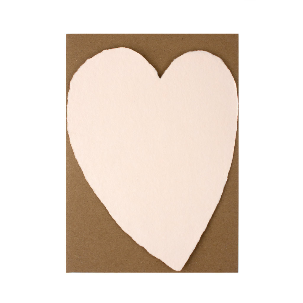 Oblation Papers & Press Handmade Paper Large Heart Blush