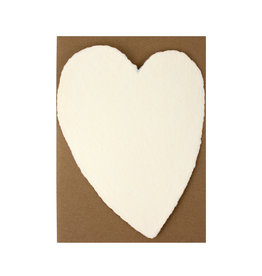 Oblation Papers & Press Handmade Paper Large Heart Cream