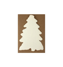 Oblation Papers & Press Handmade Paper Cream Evergreen