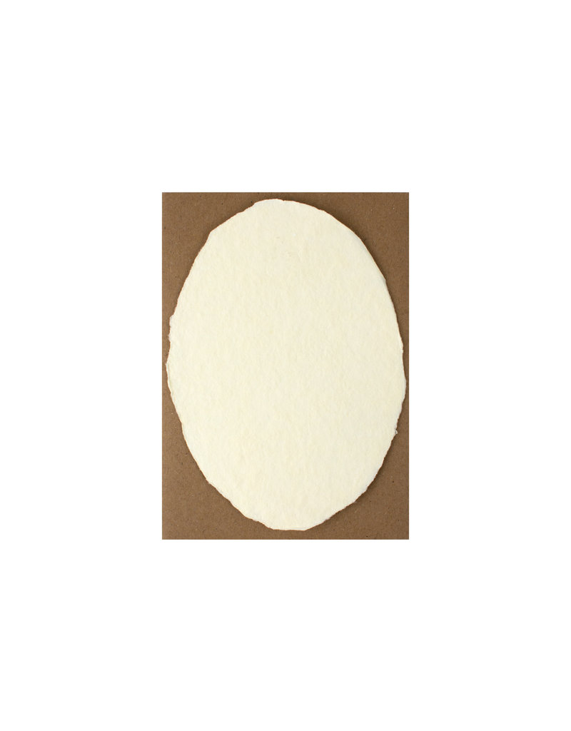 Oblation Papers & Press Handmade Paper Cream Oval