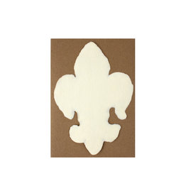 Oblation Papers & Press Handmade Paper Cream Fleur De Lis