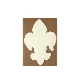 Oblation Papers & Press Handmade Paper Cream Fleur De Lis
