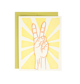 Peace Sign Supreme Card