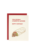 Hat + Wig + Glove You deserve a burrito supreme card