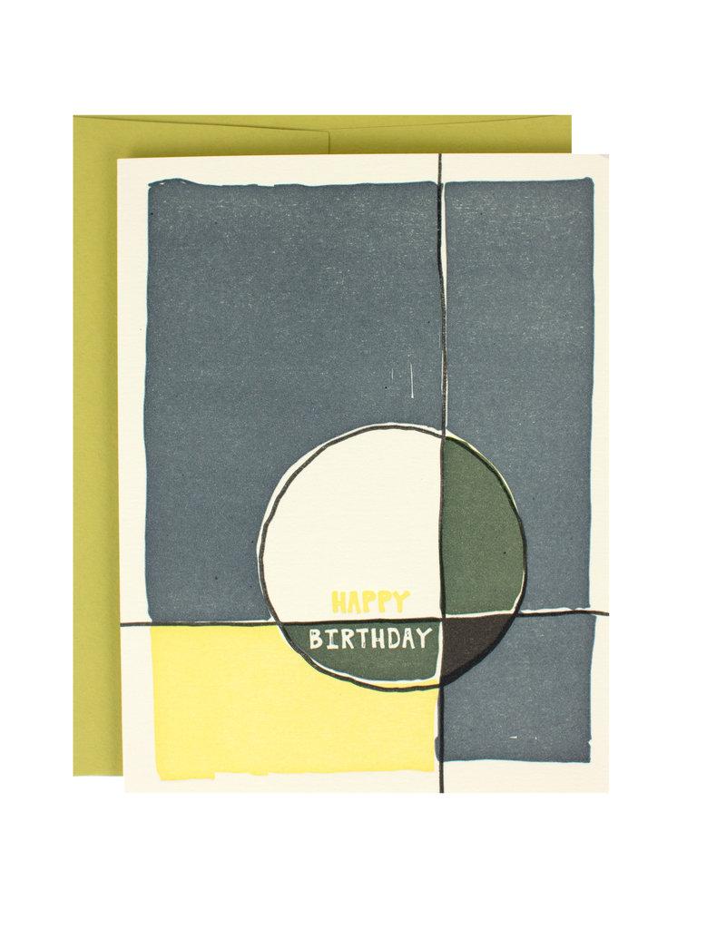 abstract circle birthday supreme card