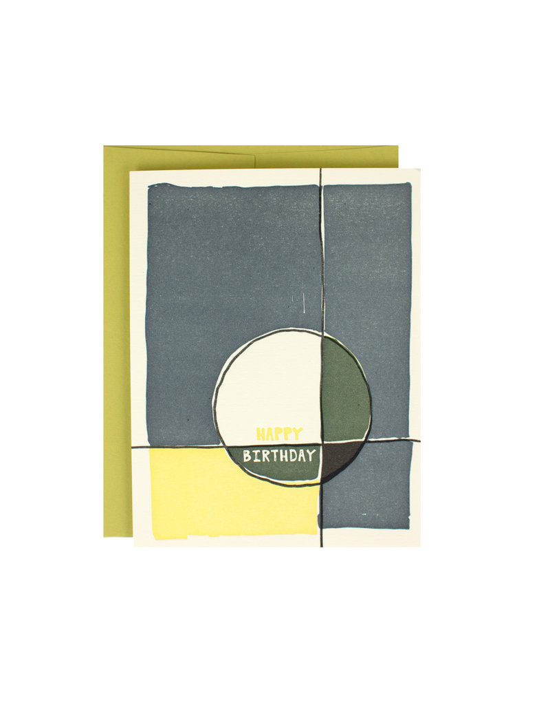 abstract circle birthday supreme card