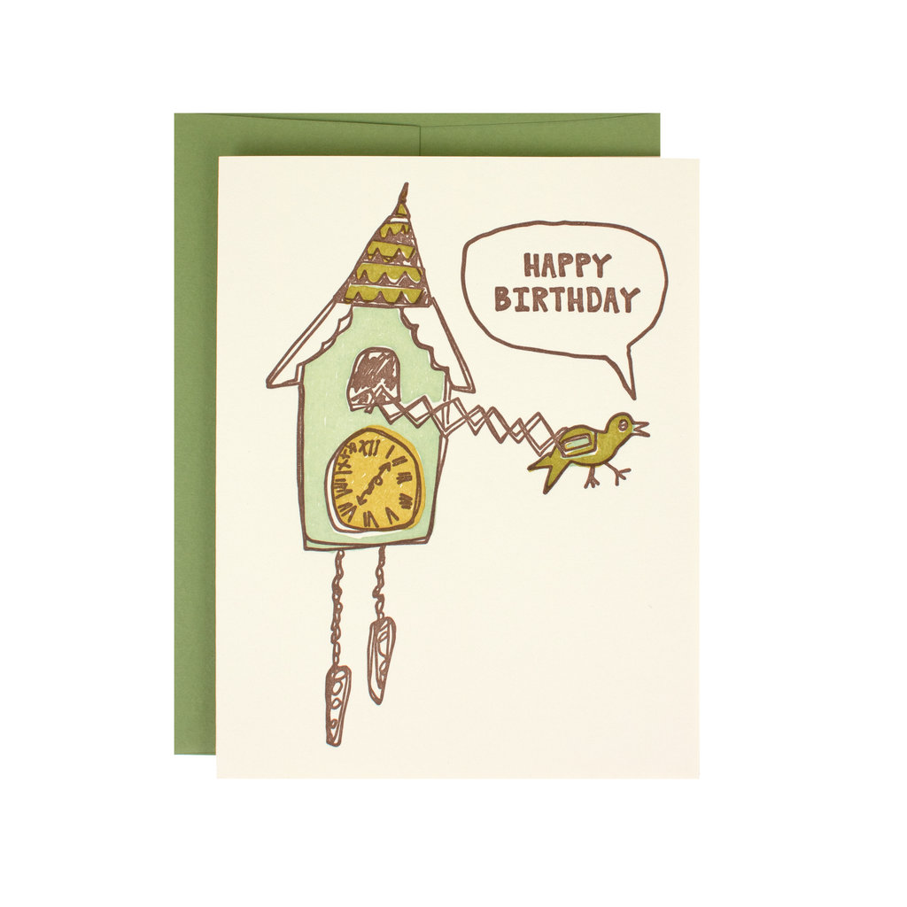 Hat + Wig + Glove Cuckoo Clock Birthday Supreme Card