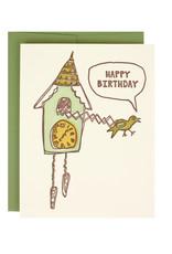 Cuckoo Clock Birthday Supreme Card