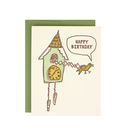 Cuckoo Clock Birthday Supreme Card