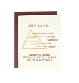 Hat + Wig + Glove Happy Birthday Food Pyramid Supreme Card