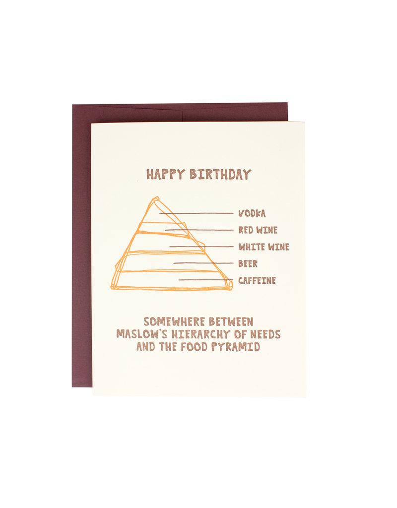 HWG Happy Birthday Food Pyramid Supreme Card