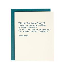 Socrates Friendship Quote Supreme Card