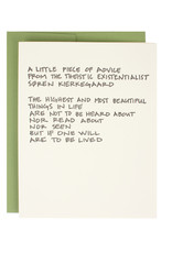 Kierkegaard Quote Supreme Card