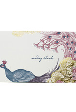 Oblation Papers & Press Sending Thanks Peacock Menagerie Greetings