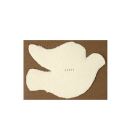 Oblation Papers & Press Peace Dove Deckled Note