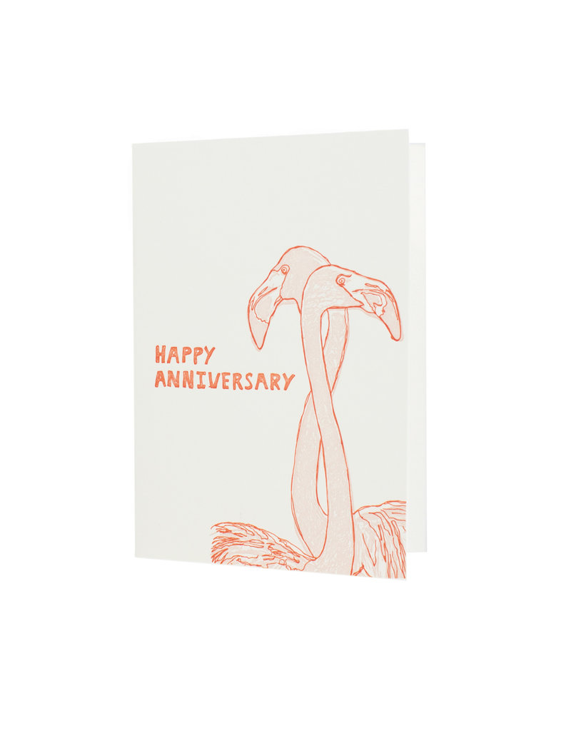 HWG Happy Anniversary Flamingo