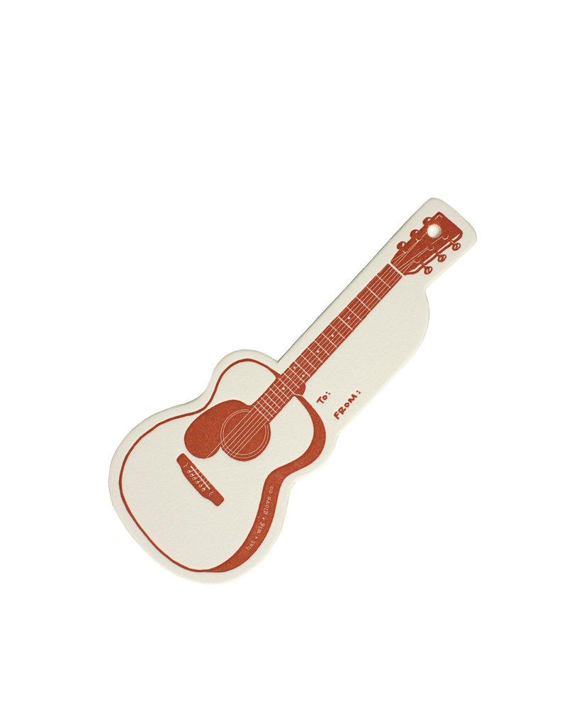 HWG Guitar gift tag
