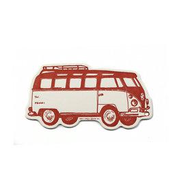 Hat + Wig + Glove Volkswagen Bus Gift Tag