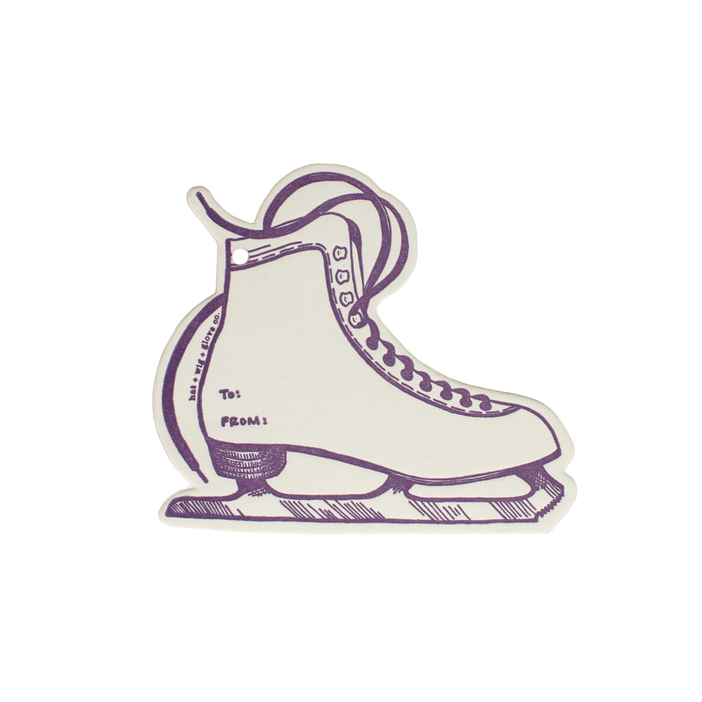 Hat + Wig + Glove Ice Skate Gift Tag