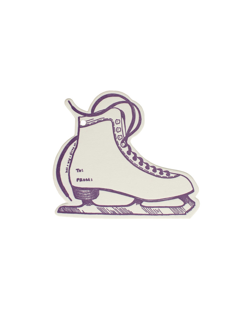 HWG Ice Skate Gift Tag