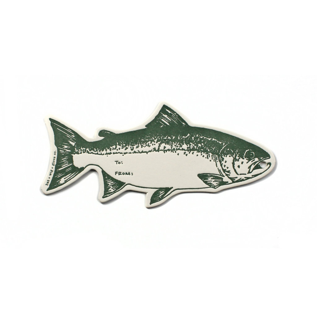 Hat + Wig + Glove hwg-fish gift tag