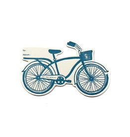 Hat + Wig + Glove Bike Letterpress Gift Tag
