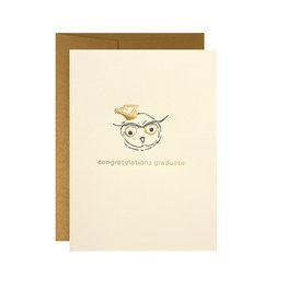 Oblation Papers & Press Congratulations Graduate Owl Card
