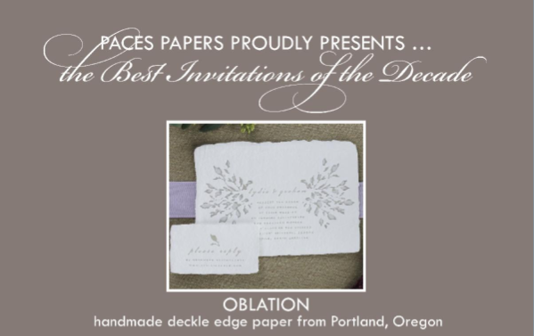Paces Papers: Best Invitations of the Decade