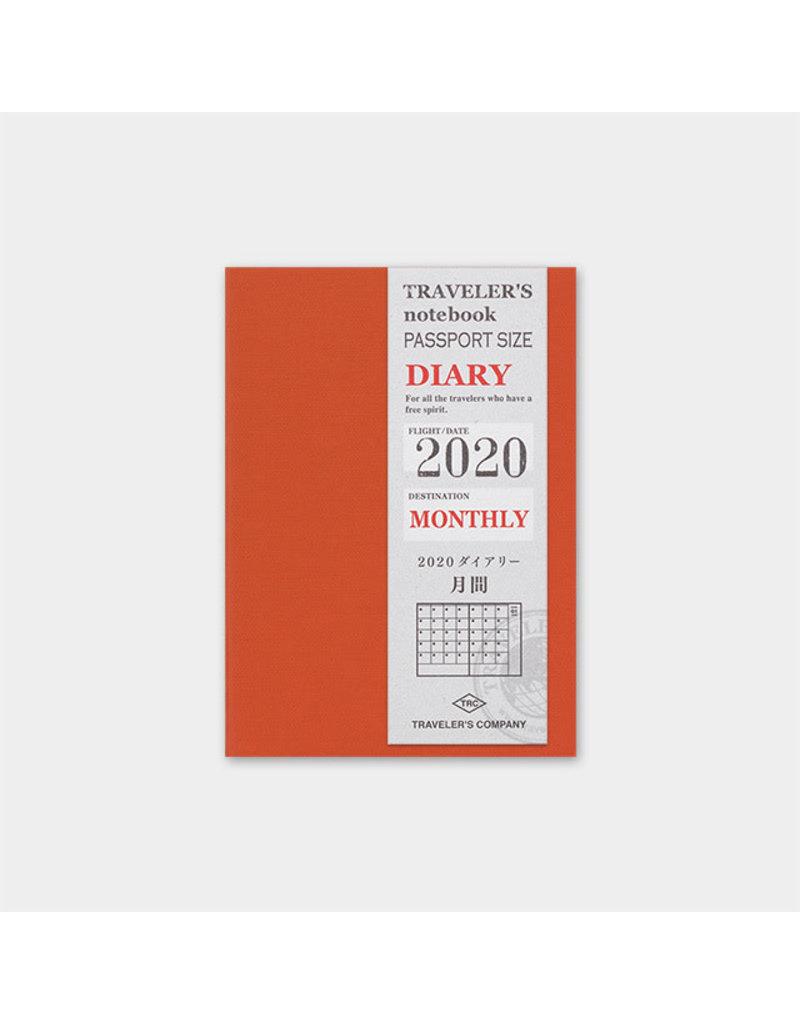 Traveler's Company Refill 2020 Monthly Passport