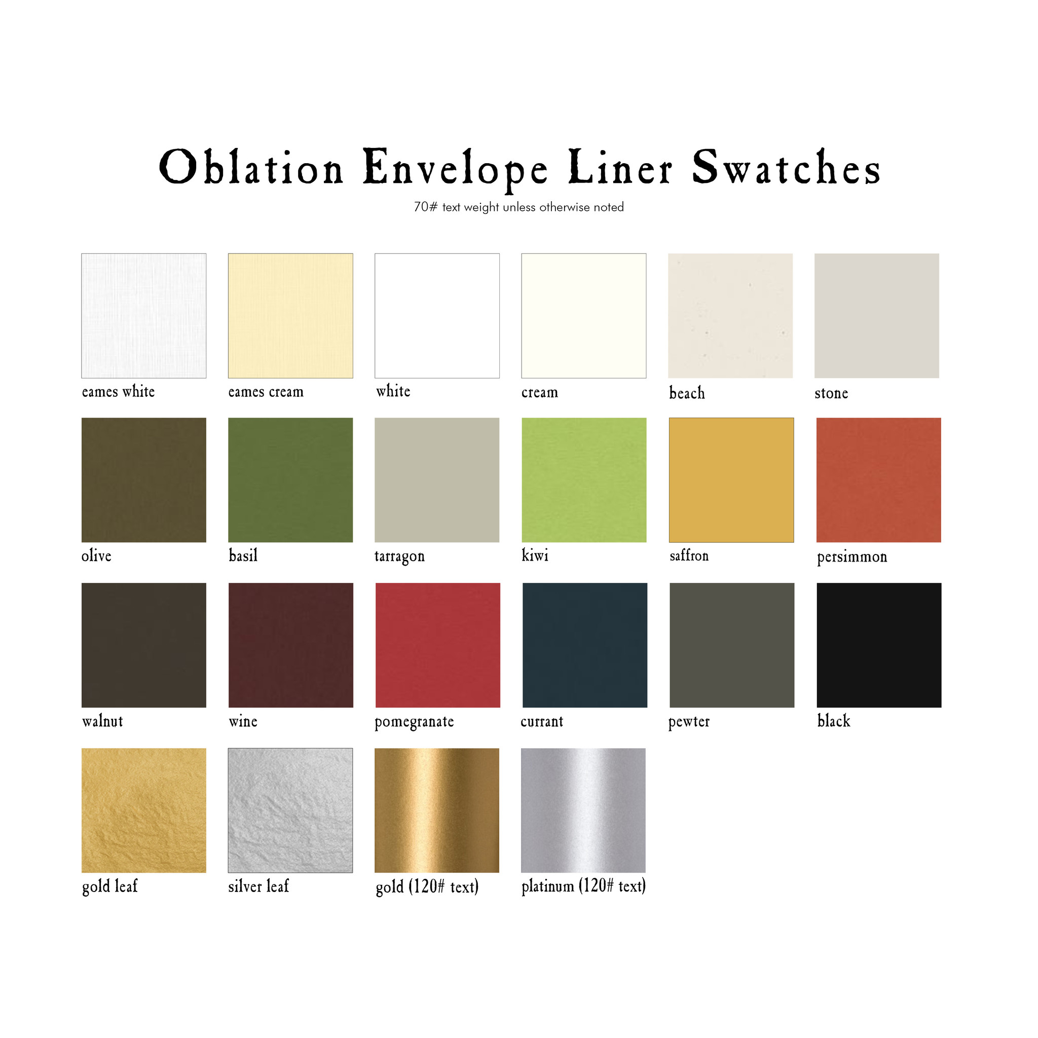 Oblation Envelope Liners