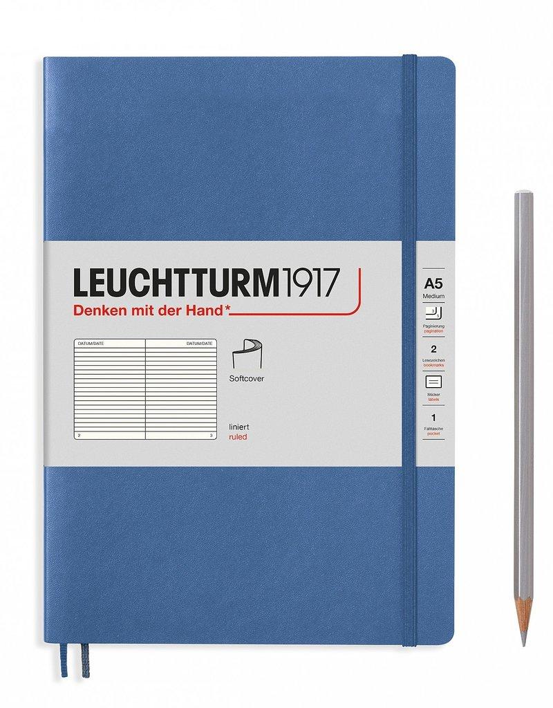 Leuchtturm A5 Denim Softcover Notebook Ruled