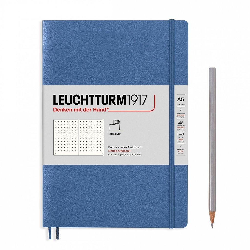 Leuchtturm A5 Denim Softcover Notebook Dotted
